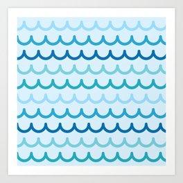 Wave Pattern Art Print