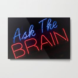 Abstract Ask The Brain Metal Print