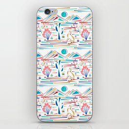 Desert High- Coyote Howls at Blue Moon iPhone Skin