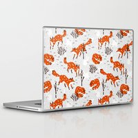 foxes Laptop & iPad Skins featuring Foxes by Paper Bicycle