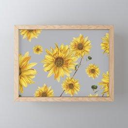 Sunflower Pattern 5 Framed Mini Art Print