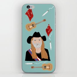 Willie Nelson & His Things iPhone Skin