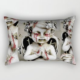 Massacred Angel: mixing Heaven with Hell. Rectangular Pillow