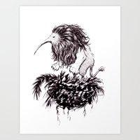 Kiwi Lion Art Print