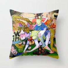lvl up Throw Pillow