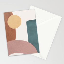 Abstract Earth 1.1 - Painted Shapes Stationery Cards