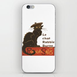 Le Chat Rabbie Burns With Tam OShanter iPhone Skin