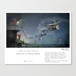 """""""Cape Town"""" in words & image (M.Konecka) Canvas Print"""