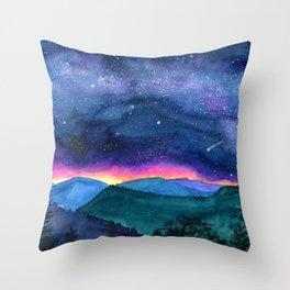 Good Night Smoky Mountains Throw Pillow