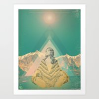 om Art Prints featuring Om by REPEAT MANTRA