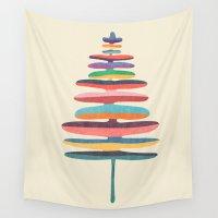 fern Wall Tapestries featuring Joy Fern by Picomodi