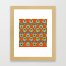 Colorful  Hamsa Hand pattern with paisley Framed Art Print