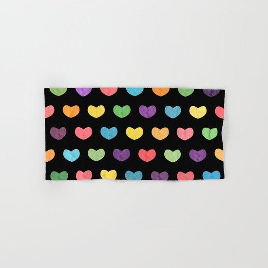 Colorful hearts II Hand & Bath Towel