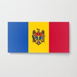 Moldova Flag Metal Print