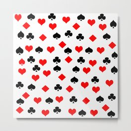 poker card figures Metal Print
