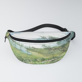 Summer by a lake Fanny Pack
