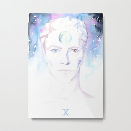 Bowie The Seer Metal Print