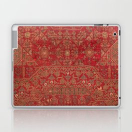 Bohemian Medallion II // 15th Century Old Distressed Red Green Colorful Ornate Accent Rug Pattern Laptop & iPad Skin