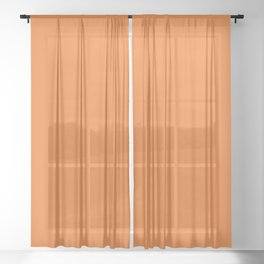 Russet Orange - Fashion Color Trend Fall/Winter 2018 Sheer Curtain