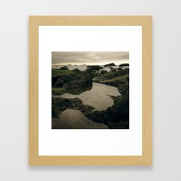 Rocky Shore and the Sea 01 Framed Art Print