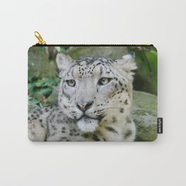 Snow Leopard stare Carry-All Pouch
