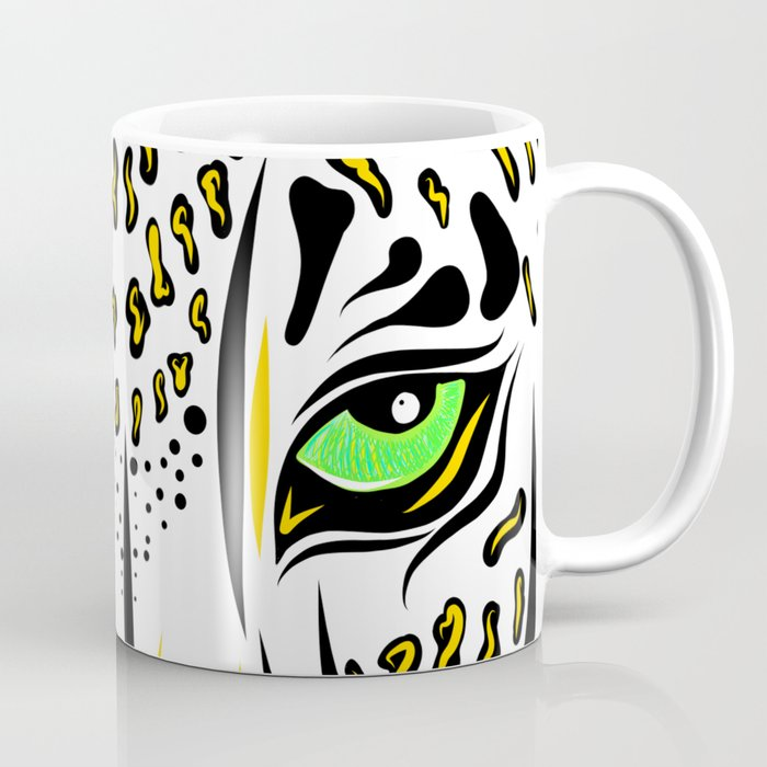 Leopard Eyes Print Coffee Mug