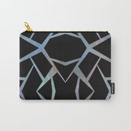 Abstract Blue & Black Design large Carry-All Pouch