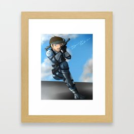 Solid Snake  Framed Art Print