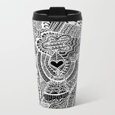Love Doodle Metal Travel Mug