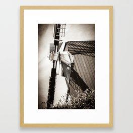Typical Dutch Windmill in Bourtange (The Netherlands) Groningen Framed Art Print