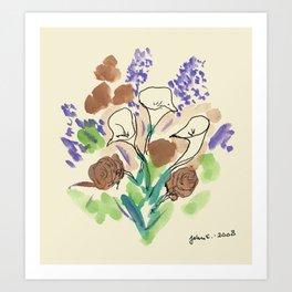 Bouquet of Calla Lillies by John E. Art Print