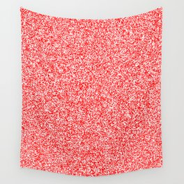 Spacey Melange - White and Red Wall Tapestry