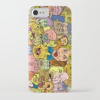 faces iPhone & iPod Cases featuring Faces by Spencer Afonso
