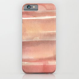 Earth tones_Hand Painted watercolour  iPhone Case