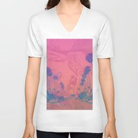 california V-neck T-shirts featuring California by Calepotts