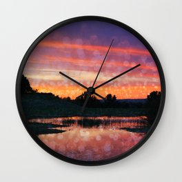 Boise Sunset Wall Clock