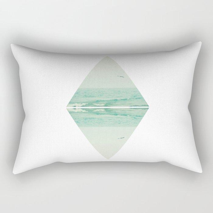 Parallel Waves Rectangular Pillow