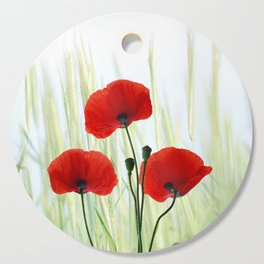 Poppies red 008 Cutting Board
