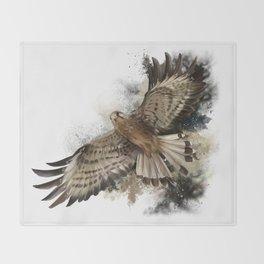 Falcon Flight Throw Blanket