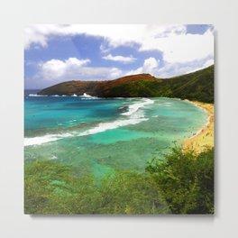 Breathtaking, Spectacular Tropical Hawaiian Island Ocean Beach Metal Print