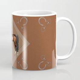 Dark Bay Arabian Horse with 4 White Socks Coffee Mug