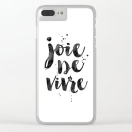 JOIE DE VIVRE, French Decor,French Quote,Dorm Room Decor,Home Decor,Modern Art,Girls Printable,Girls Clear iPhone Case