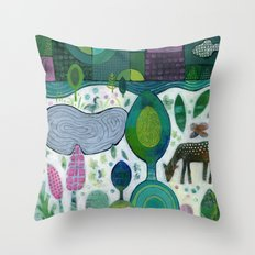 Playful Dawn Throw Pillow
