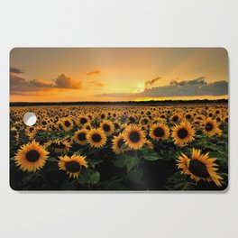 Sunflower field Cutting Board