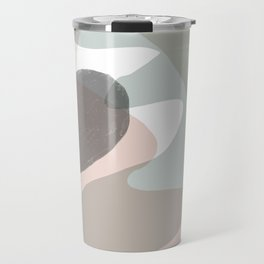 Shapes and Layers no.15 - soft neutral colors Travel Mug
