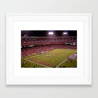49ers Framed Art Prints featuring Candlestick Park 49ers by Kobibryant