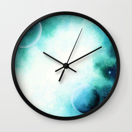 WaterColor Space by hand Wall Clock