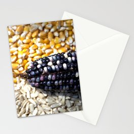 White, yellow and blue corn Stationery Cards