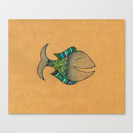 happy fish #4 Canvas Print
