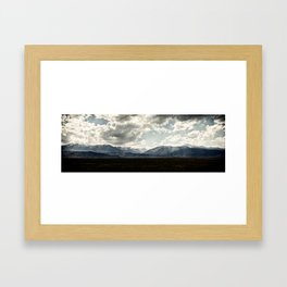 Bridgeport Valley (color) Framed Art Print